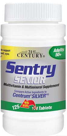 21st Century, Sentry, Multivitamin & Multimineral Supplement, 200 Tablets