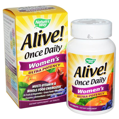 Nature's Way, Alive! Once Daily Women's Ultra Potency, Multi-Vitamin & Whole Food Energizer, 60 Tablets