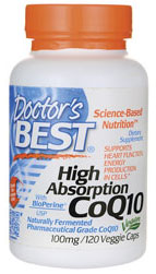 Doctor's Best High Absorption CoQ10 (120 mg), 120 Veggie Caps
