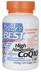 Doctor's Best High Absorption CoQ10 (120 mg), 120 Veggie Caps