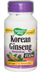Nature's Way Ginseng, Korean, 60 VCaps