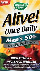 Nature's Way Alive Once Daily Men's 50+ Multi Ultra Potency, Tablets, 60-Tablets