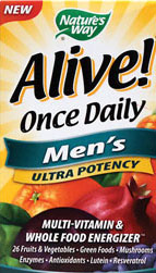 Nature's Way Alive Once Daily Men's Multi Ultra Potency, Tablets, 60-Tablets