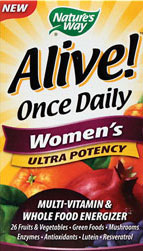 Nature's Way Alive Once Daily Women's Multi Ultra Potency, Tablets, 60-Tablets
