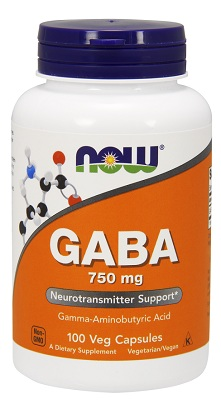 Now Foods, GABA, 750 mg, 100 Vcaps